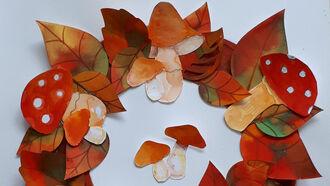 Kunstworkshop: Kleurige herfstkrans maken (6+)