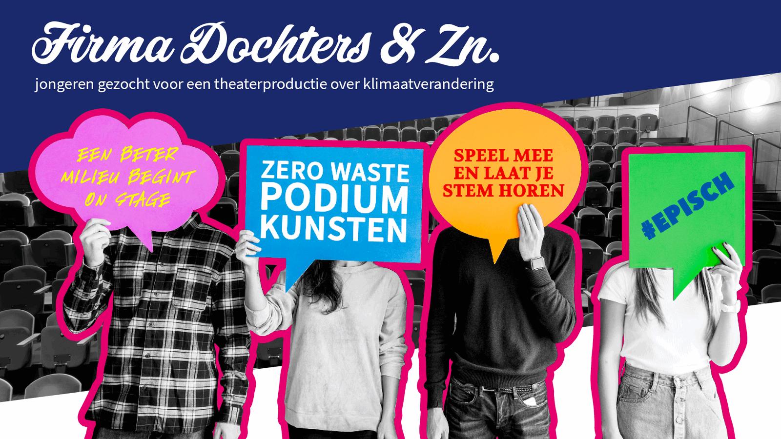 Doe mee aan de theaterproductie: Firma Dochters & Zn.