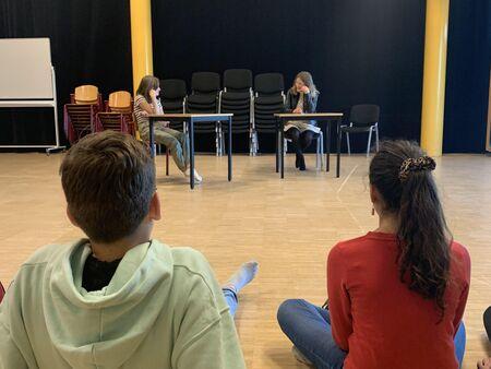 Eerste lesweek Jeugdtheaterschool Aan de Slinger groot succes