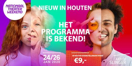 Nationaal Theaterweekend 24 t/m 26 januari: Programma staat online!