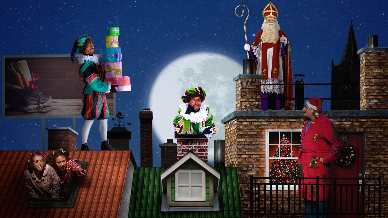 Sint & Piet: op de Hoge Hoge daken